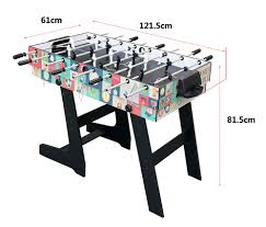 4 In 1 Game Table 4ft Folding Foosball Hockey Table Tennis Pool Table Kids Gift 4 In