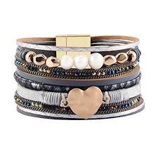 leather cuff wrap bracelet images Jenia women leather cuff bracelet rope wrap bracelets jpg