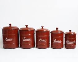 country kitchen canisters kitchen canisters etsy
