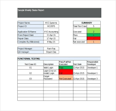 project status report template in excel weekly status report template software testing weekly status