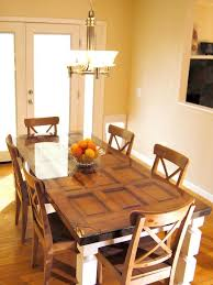 table with glass doors how to build a dining table from an old door and posts reuse