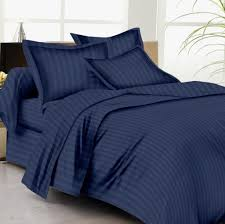 buy bed sheets with stripes 300 thread count navy blue online in
