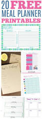 free printable meal planner and grocery lists