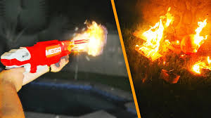 flaming nerf gun mod starts fire in my backyard dangerous