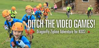 kids zip line adventure hocking hills dragonfly tour