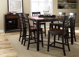 High Top Dining Room Table Unique High Kitchen Table Set Room With Dark Espresso Finish Top