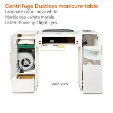 manicure table with built in led light centrifuge dustless manicure table spasalon us