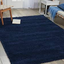 Blue Shaggy Rug Nourison Amore Amor1 Shaggy Rugs In Ink Blue Free Uk Delivery