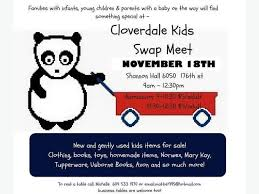 Kids Swap Meet Cloverdale Fairgrounds NOVEMBER 18 Saturday