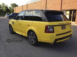 wrapped range rover sport matte yellow range rover sport autobiography vehicle