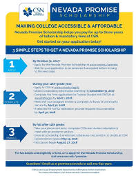 nevada promise scholarships available must apply