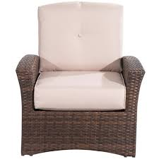 outdoor garden rattan single sofa chair armchair recliner seat