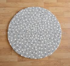 Nepal Felt Ball Rug Nepal Handmade Felt Ball Rug And Carpet Hfwcr 0002m2
