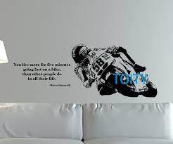 sport en chambre x marco simoncelli quote wall géant autocollant mural moto racer