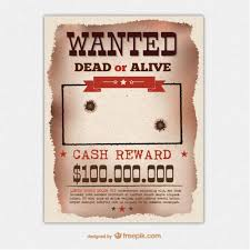 retro wanted poster template vector free vector download in ai