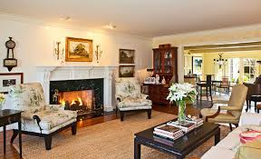 showcase of living room interior design with fireplace