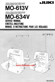 juki sewing machine manuals instruction and repair manuals