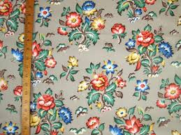 Vintage Floral Upholstery Fabric 1940 U0027s Jacobean Floral Upholstery Fabric U2013 Donna Flower Vintage