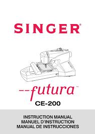 singer ce 200 quantum futura sewing machine embroidery serger