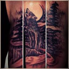 wolf howling at the moon tattoozled wolven de