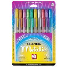 gelly roll medium metallic pen set