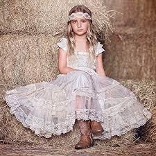 country wedding flower dresses cverre lace flower rustic burlap baby country wedding flower