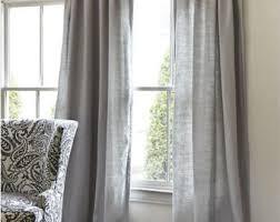 Grey Linen Curtains Grey Linen Curtains Etsy