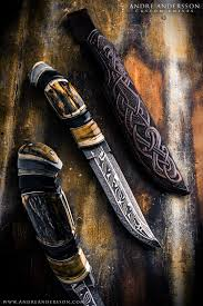 pattern welding gold andré andersson custom knives from sweden