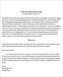 sample formal letter of recommendation 8 examples in word pdf