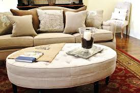 Large Leather Ottoman Fabric Ottoman Coffee Table Capsuling Me