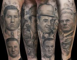 Al Capone Tattoos Mob Ganster Leg Sleeve By Steve Wimmer Tattoos