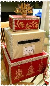 orange and gold east indian wedding card box card boxes