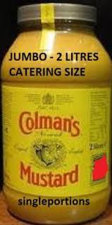 colman mustard mustard catering jumbo size bulk portions