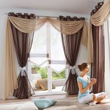 Sheer Curtains With Valance Sheer Voile Window Scarf Curtains Fashion European Curtain Valance