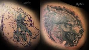 lucky bamboo tattoos haylo wolf cover up