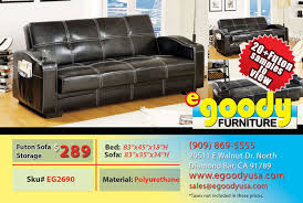 Futon Sofa Bed With Storage Futon Sofa Bed Black Storage With Cup Holder Black Pu Leather With