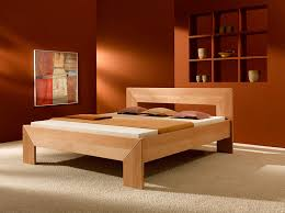 Modern Wooden Bed Frames Uk Bed Frame Made From Solid Beechwood Purenature