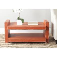 burnt orange coffee table safavieh garson brown crocodile coffee table free shipping today