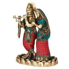 God Statue Buy Collectible India Large Radha Krishna Idol Brass Sculpture