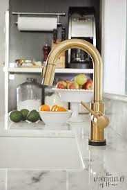 brass kitchen faucets kohler kitchen faucets brass a splash with kohler karbon in