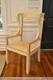 Wooden Frame Armchair Diy Wingback Dining Chair U2013 How To Build The Chair Frame