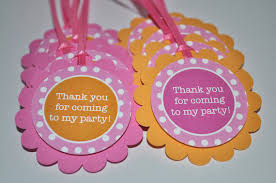 Thank You Favors by Birthday Favor Tags Favors Thank You Tags