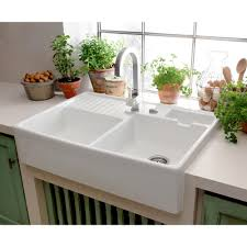 sinks faucets fascinating white double bowl white ceramic kitchen