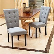 leighton dining room set amazon com leighton grey fabric dining chairs set of 2 chairs