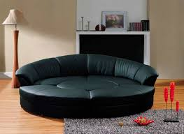 Black Sofa Bed Black Italian Leather Circle Sofa Bed Vg276 Sofa Beds