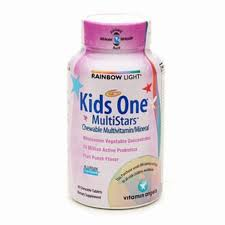 rainbow light kids one rainbow light kids one multistars chewable multivitamin mineral reviews