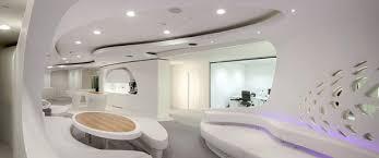 bureau d 騁ude fluide architecture bureau design mur blanc fluide perfore bureau design