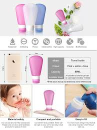 Amazon Travel Items by Amazon Com Kitdine Portable Soft Silicone Travel Bottles Set 3