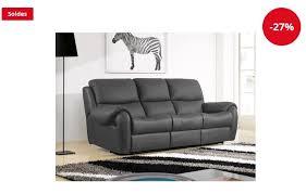la maison du canapé canapé cuir 3 places inaya la maison du canapé soldes canapé