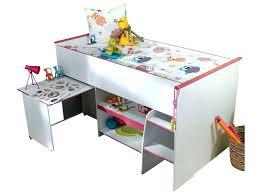 bureau surélevé lit sureleve avec bureau integre lit superpose avec bureau integre